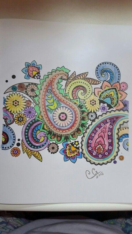Colorama Coloring Book Pages  Colorama coloring book Prismacolor pencils 8 2015