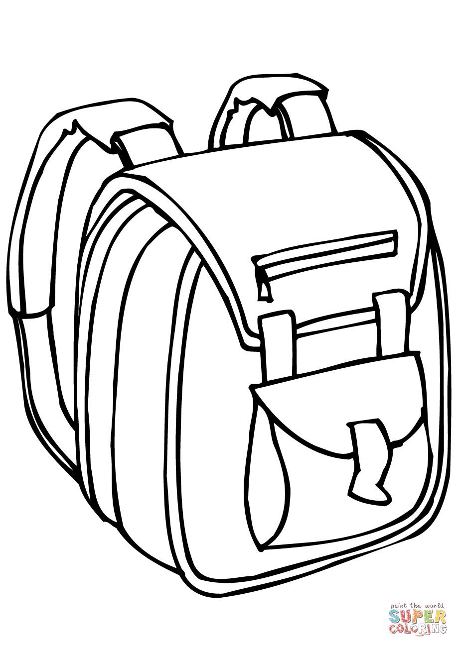 Coloring Book Bag  School Bag coloring page