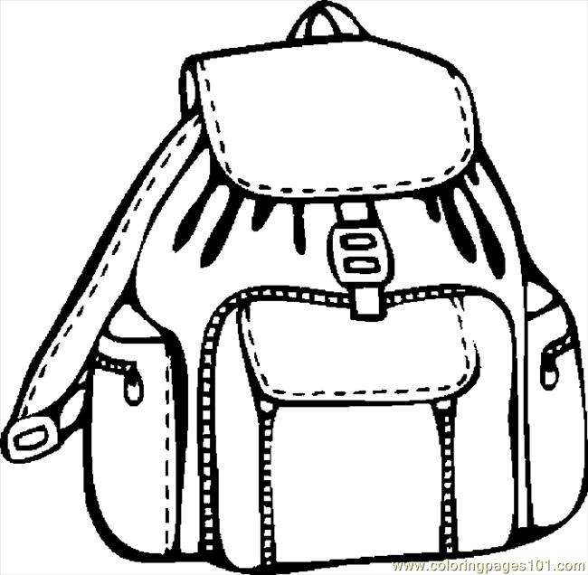 Coloring Book Bag  Bag clipart coloring page Pencil and in color bag