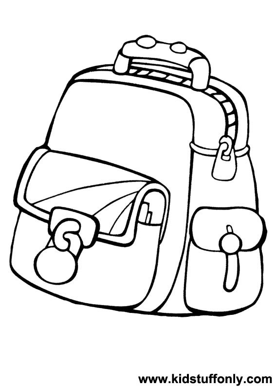 Coloring Book Bag  Coloring Pages School Bag Coloring Pages KId Stuff ly