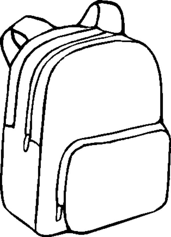 Coloring Book Bag  School Bags Drawing at GetDrawings