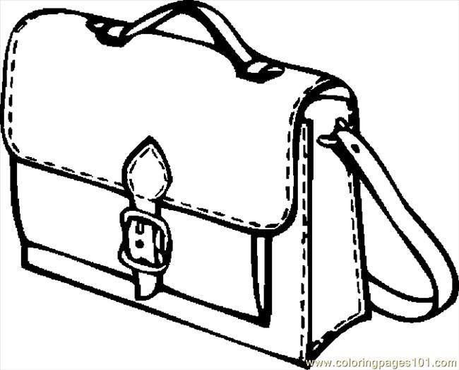 Coloring Book Bag  Book Bag 07 Coloring Page Free School Coloring Pages
