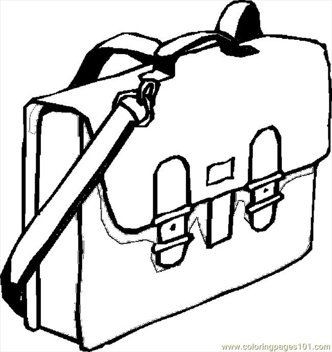 Coloring Book Bag  School Bags Colouring Pages Picture to Pin on Pinterest