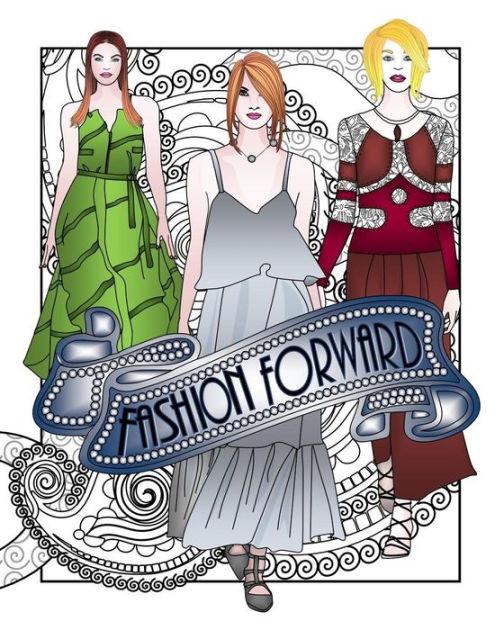 Coloring Book Barnes And Noble  Fashion Forward Adult Coloring Book Adult Coloring Book