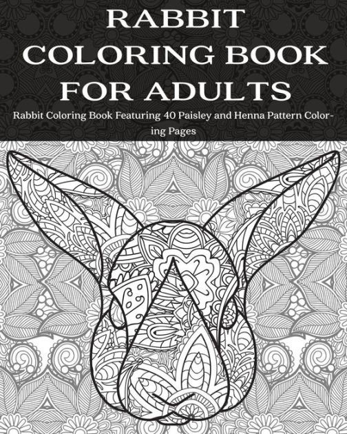 Coloring Book Barnes And Noble  Rabbit Coloring Book for Adults Rabbit Coloring Book