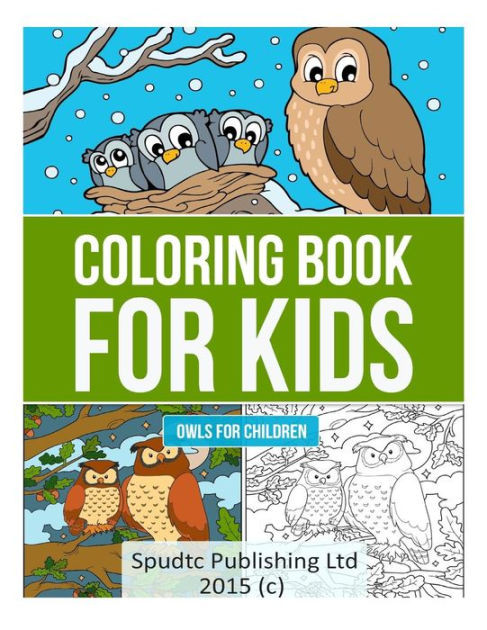 Coloring Book Barnes And Noble  Coloring Book for Kids Owls for Children by Spudtc
