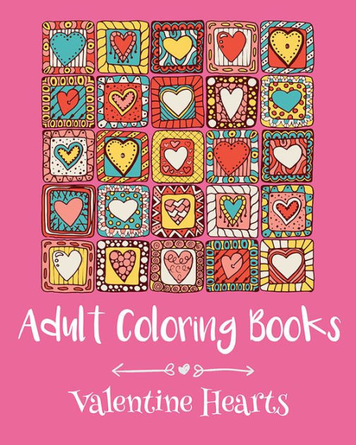 Coloring Book Barnes And Noble  Adult Coloring Books Valentine Hearts by emma andrews