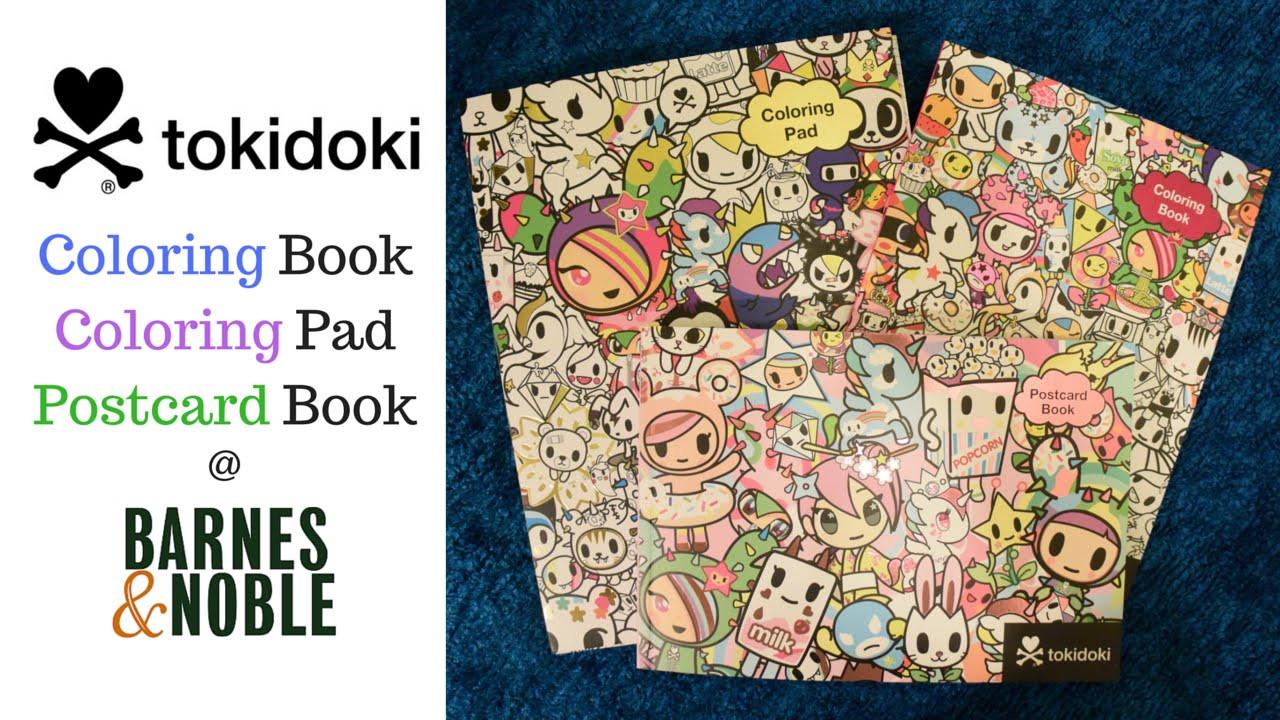 Coloring Book Barnes And Noble  Tokidoki Coloring Book Coloring Pad and Postcard Book