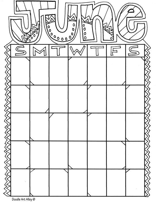 Coloring Book Calendars  12 best Month coloring images on Pinterest