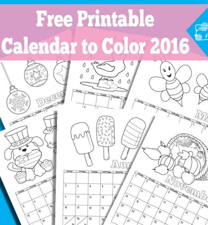 Coloring Book Calendars  8 Free Colouring In Printables Kids Will Love