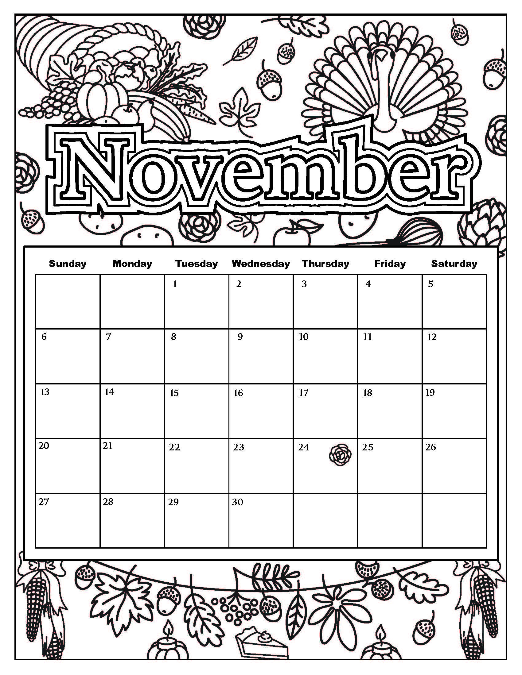 Coloring Book Calendars  October 2016 Calendar Coloring Page