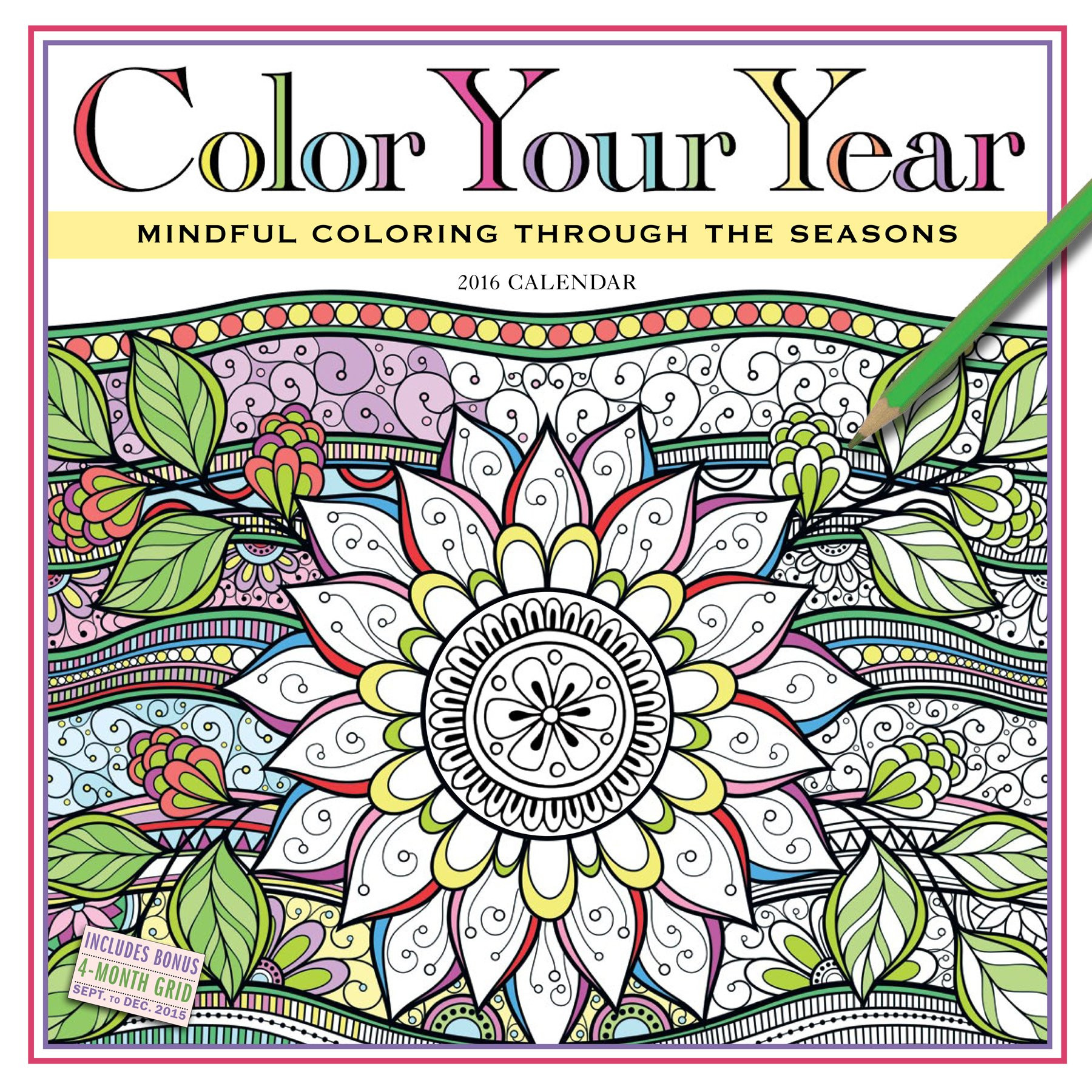 Coloring Book Calendars  Color Your Year 2016 Calendar for $9 27
