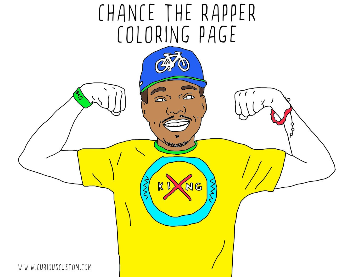 Coloring Book Chance The Rapper  Chance The Rapper Adult Coloring Page Rapper Coloring Book