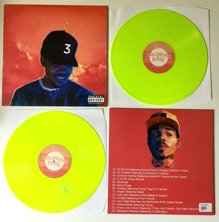 Coloring Book Chance The Rapper Vinyl  Coloring Book Lp Plus Chance The Rapper Coloring Book