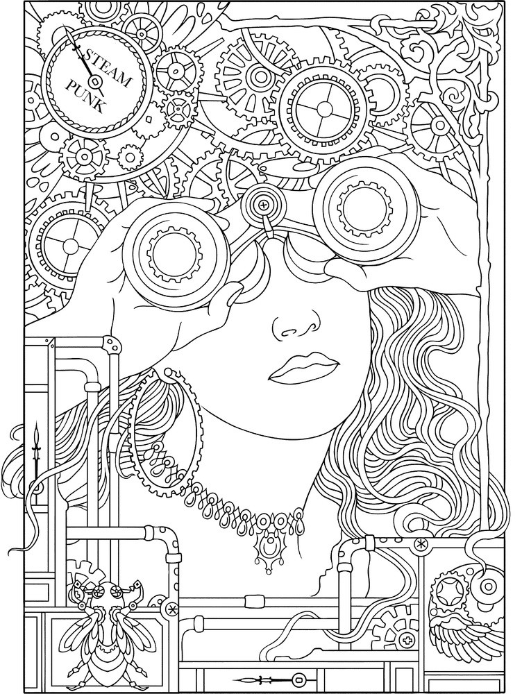 Coloring Book For Adults  Coloring Book Pages for Adults Art and Abstract