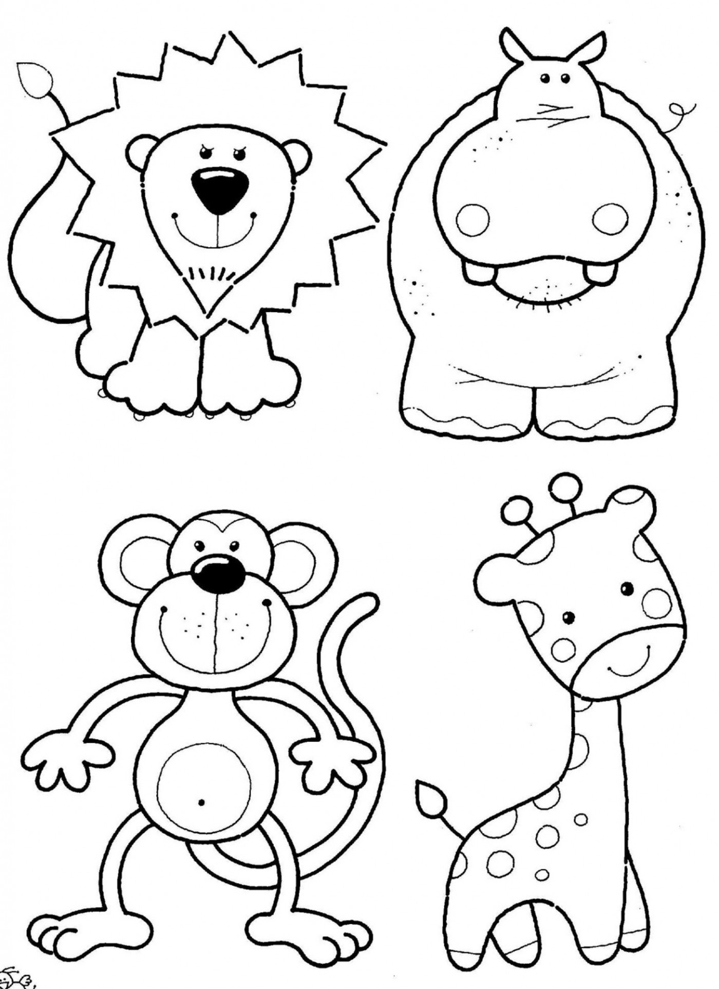 Coloring Book For Kids Animals  Animal Coloring Pages 14