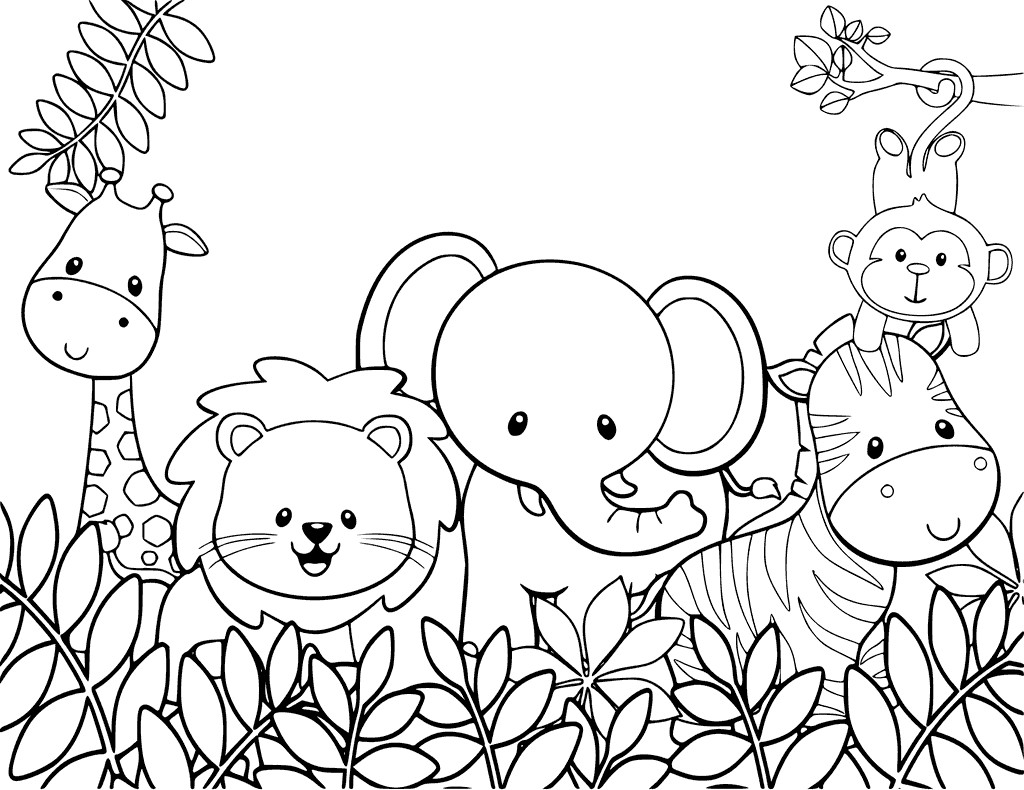 Coloring Book For Kids Animals  Cute Animal Coloring Pages Best Coloring Pages For Kids