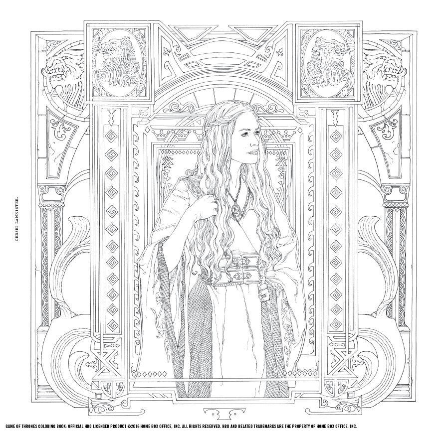 Coloring Book Games  Game of Thrones A New Coloring Book Let s You Color In