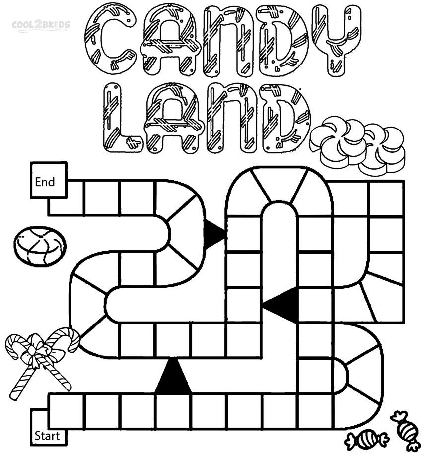Coloring Book Games  Printable Candyland Coloring Pages For Kids