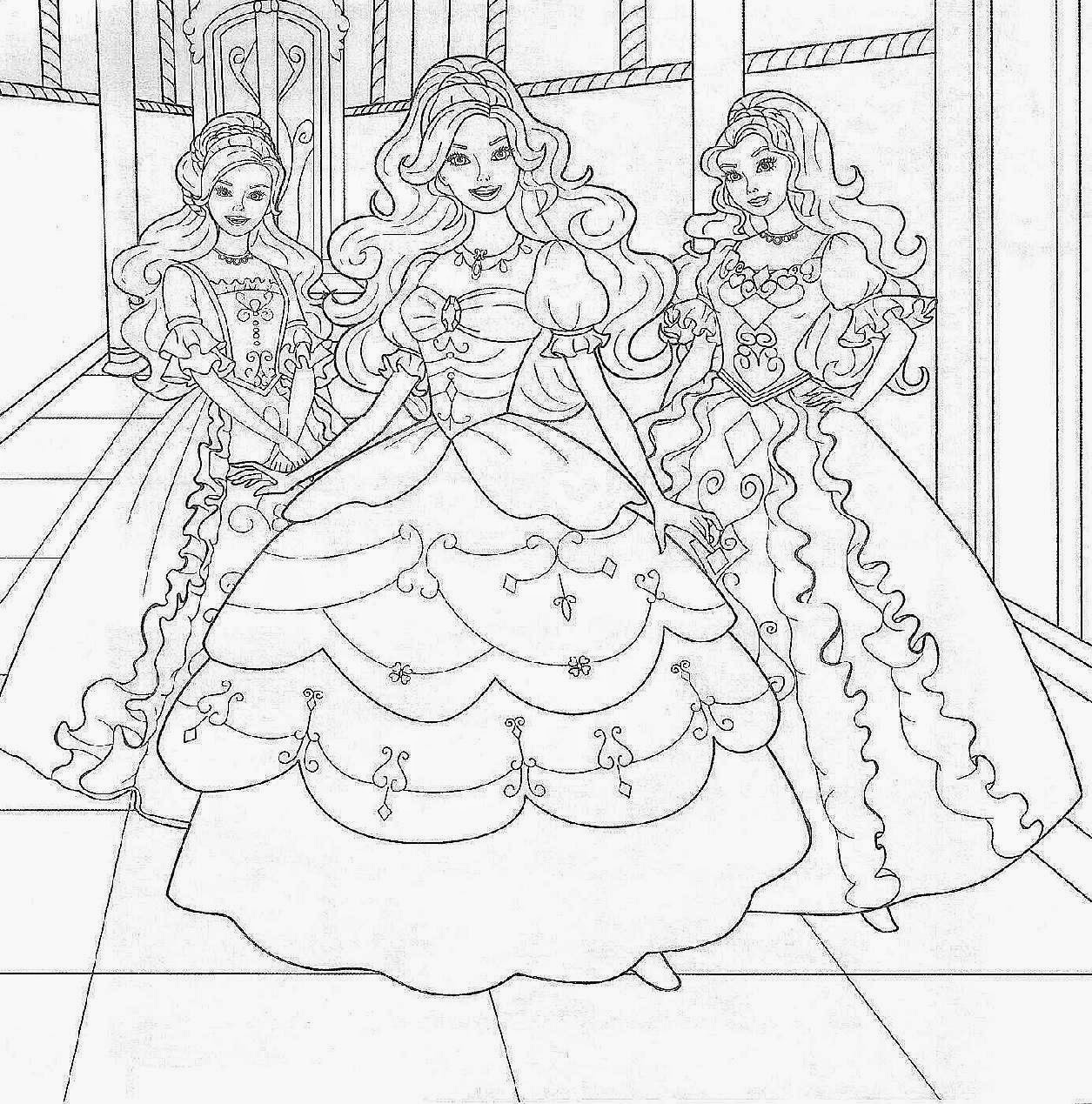 Coloring Book Games  free barbie coloring pages