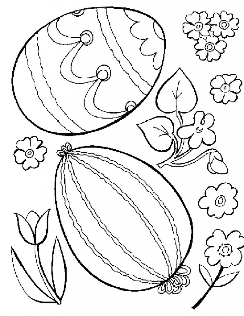 Coloring Book Page  Free Printable Easter Egg Coloring Pages For Kids