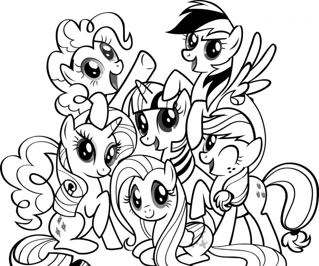 Coloring Book Page  Free Printable My Little Pony Coloring Pages For Kids