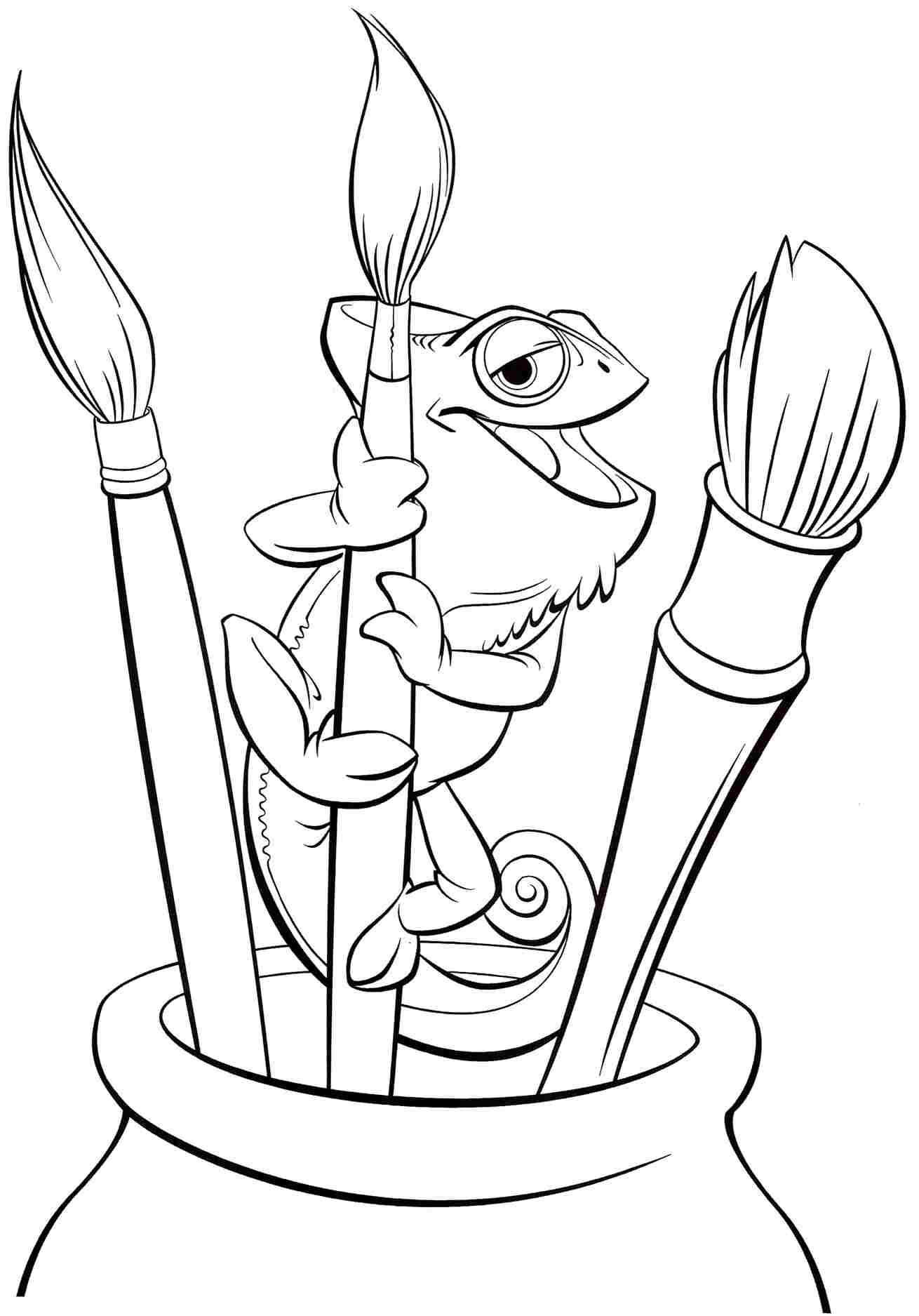 Coloring Book Page  Tangled Coloring Pages