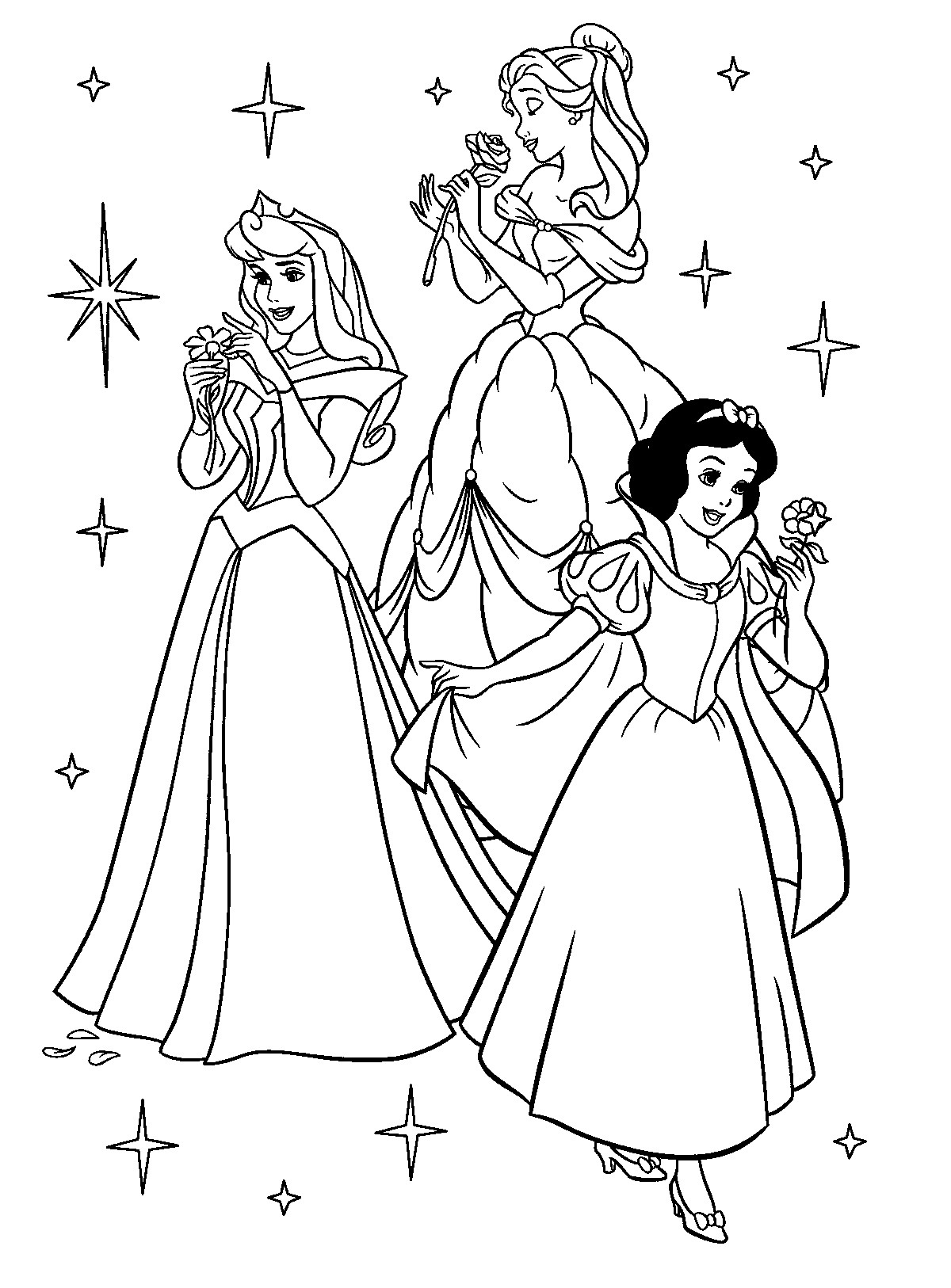 Coloring Book Pages Disney Princess  Free Printable Disney Princess Coloring Pages For Kids