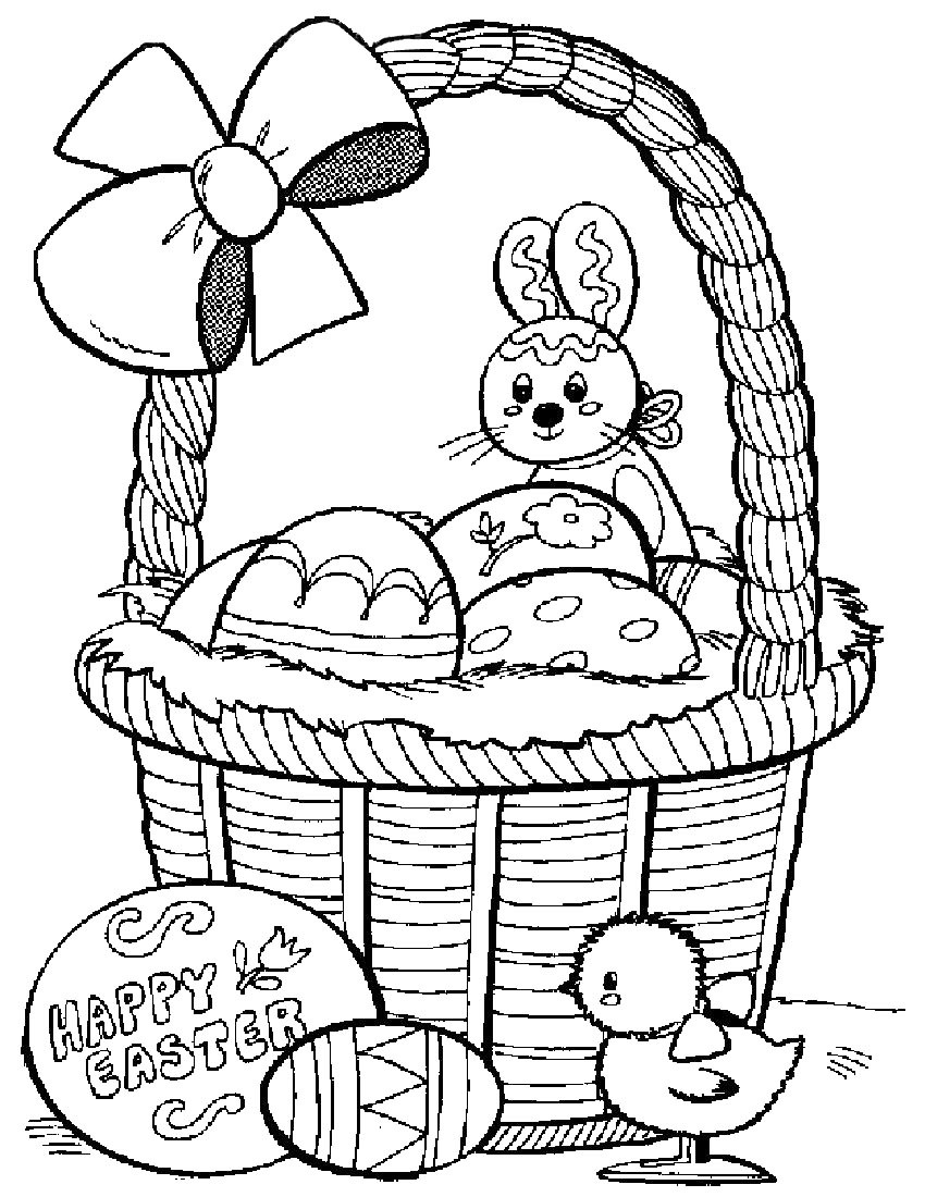 Coloring Book Pages Easter  Easter Pages To Color