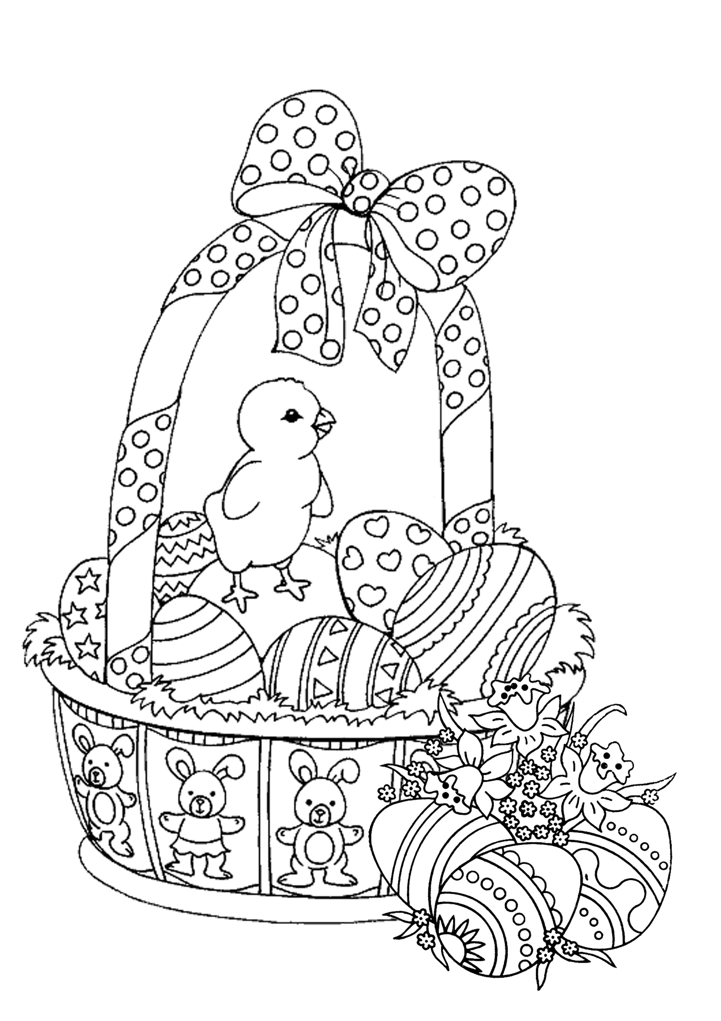 Coloring Book Pages Easter  Easter Coloring Pages for Adults Best Coloring Pages For