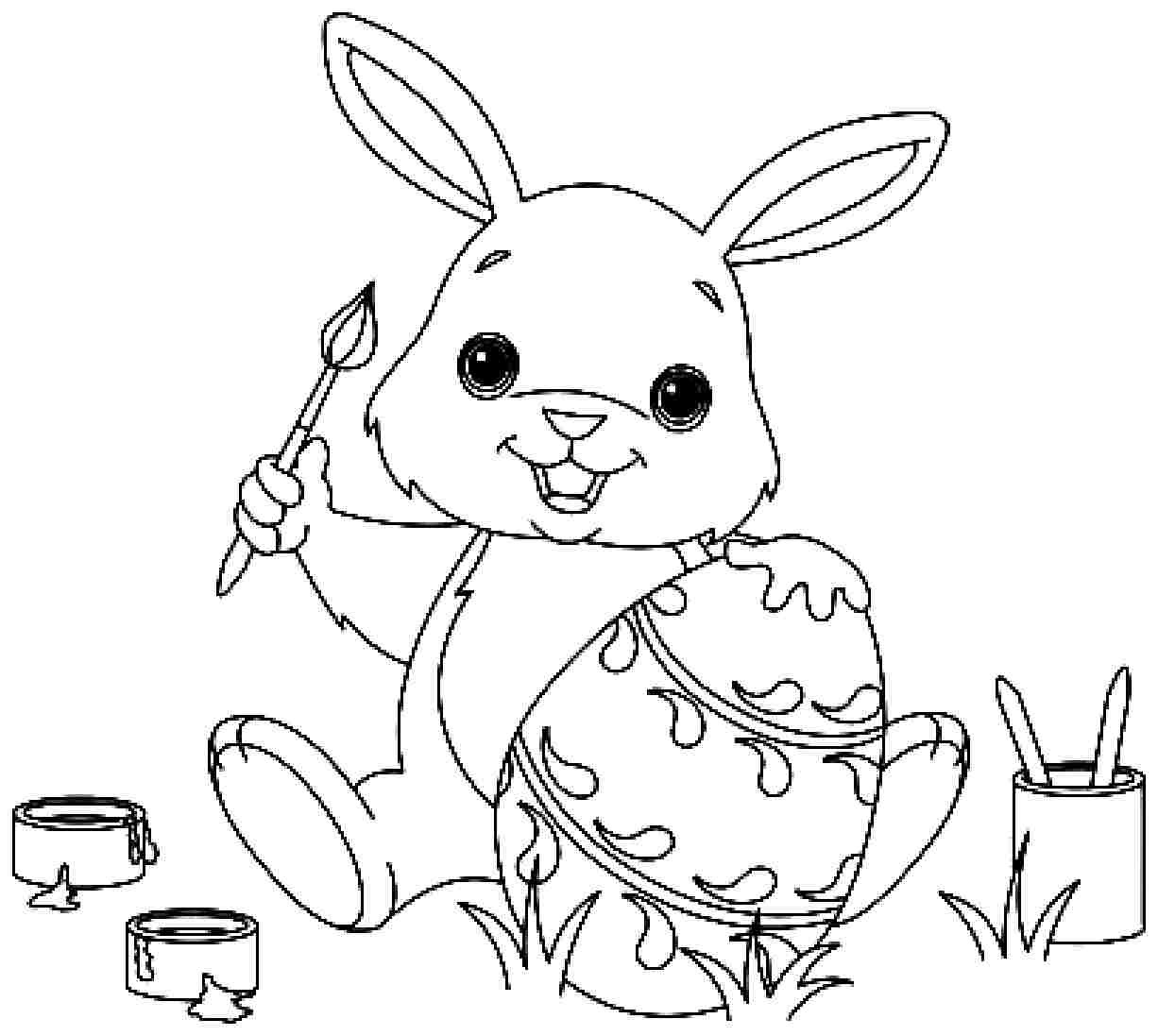 Coloring Book Pages Easter  35 Best Easter Bunny Coloring Pages – WeNeedFun