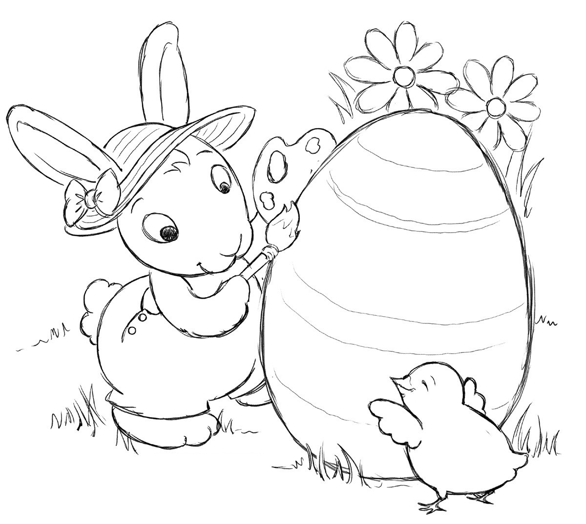 Coloring Book Pages Easter  Free Printable Easter Bunny Coloring Pages For Kids