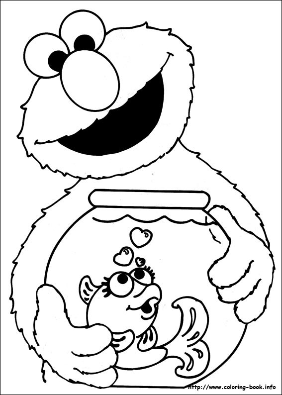Coloring Book Pages Elmo  Muppet Character Elmo coloring pages and pictures Print