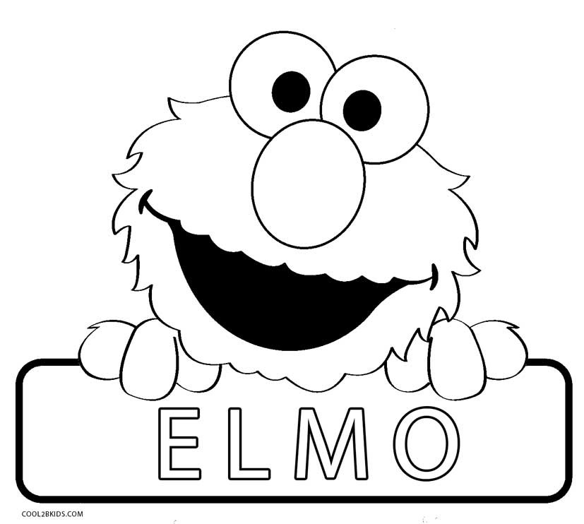 Coloring Book Pages Elmo  Printable Elmo Coloring Pages For Kids