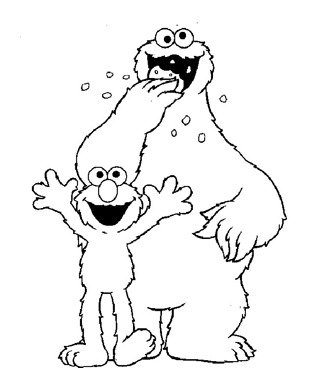 Coloring Book Pages Elmo  Free Printable Elmo Coloring Pages For Kids