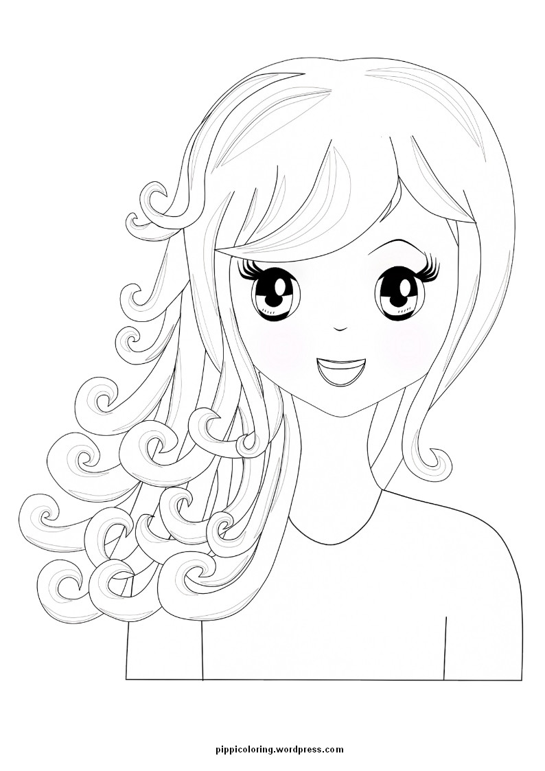 Coloring Book Pages Girls  Little Girl Coloring Pages Bestofcoloring