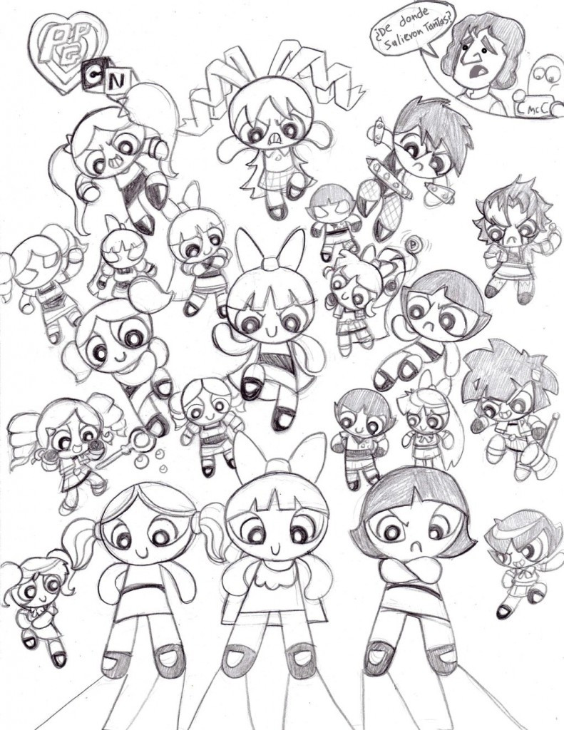 Coloring Book Pages Girls  Free Printable Powerpuff Girls Coloring Pages For Kids