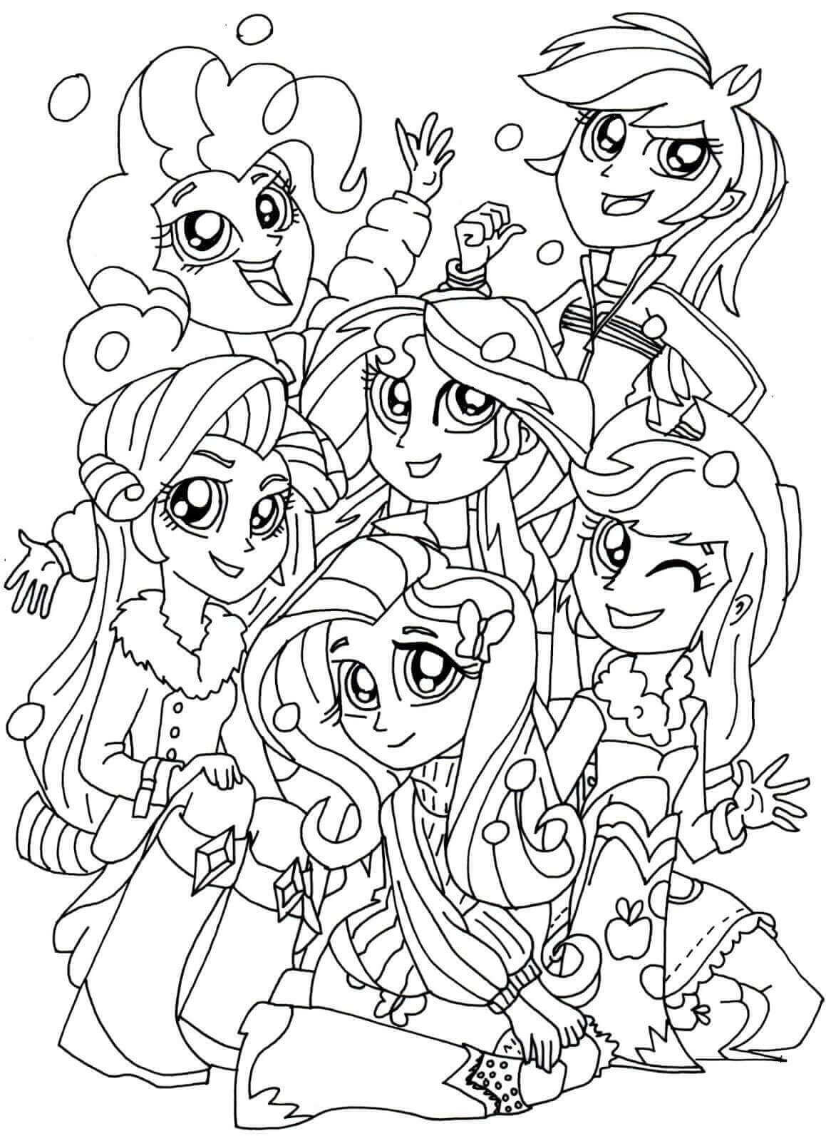 Coloring Book Pages Girls  15 Printable My Little Pony Equestria Girls Coloring Pages