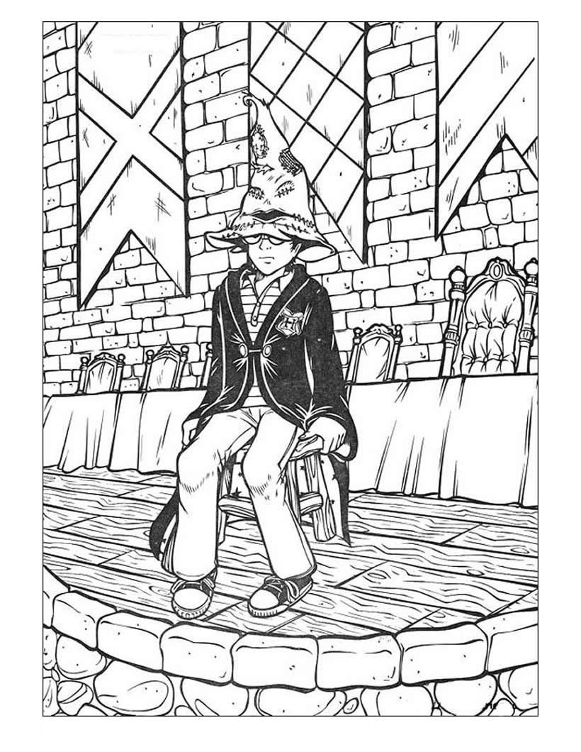 Coloring Book Pages Harry Potter  Harry Potter Coloring Book