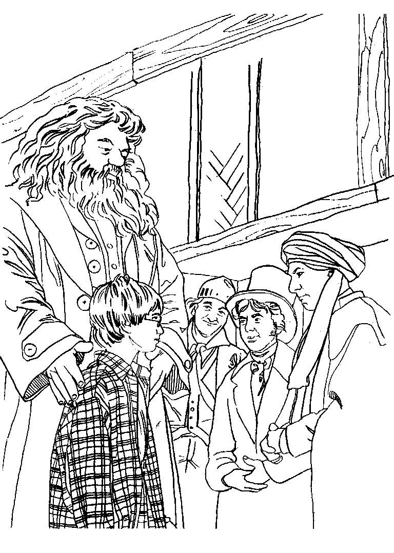 Coloring Book Pages Harry Potter  Satchel Harry Potter Colouring Book