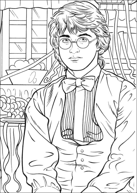Coloring Book Pages Harry Potter  Harry Potter Coloring Pages