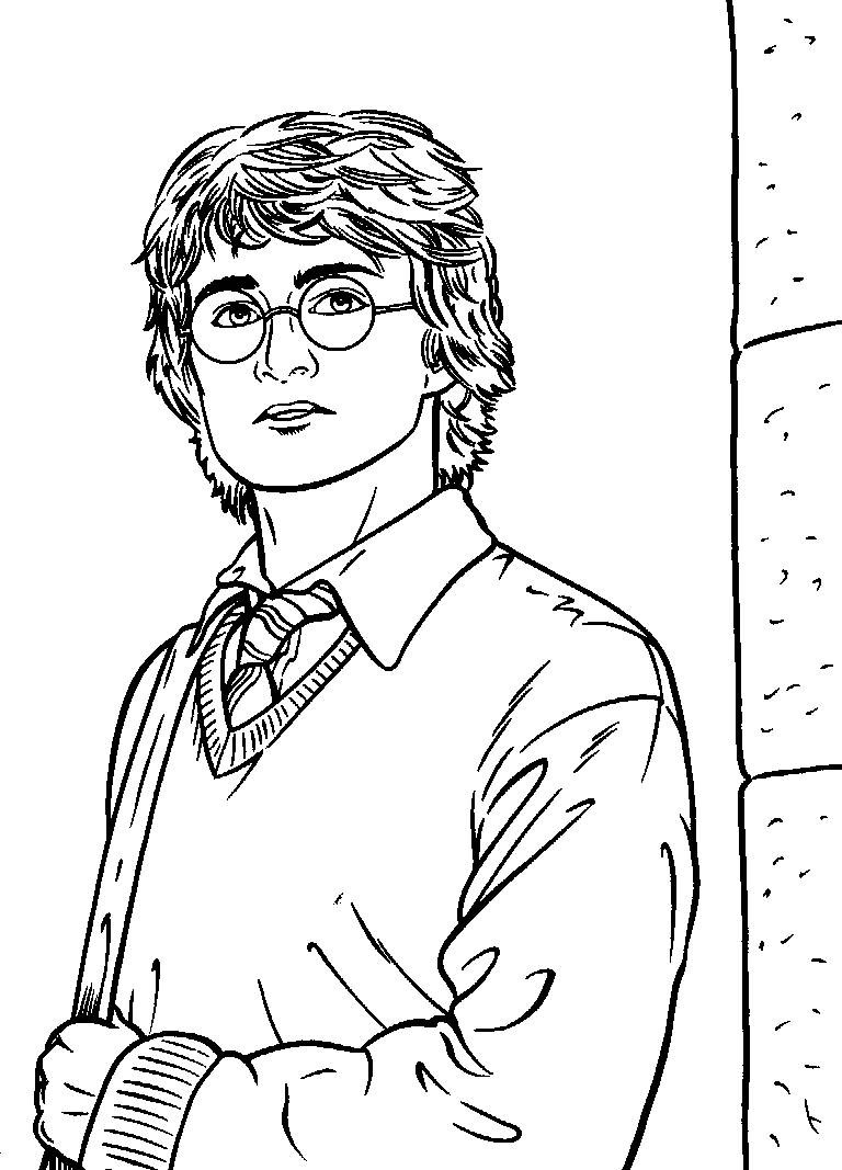 Coloring Book Pages Harry Potter  Free Printable Harry Potter Coloring Pages For Kids