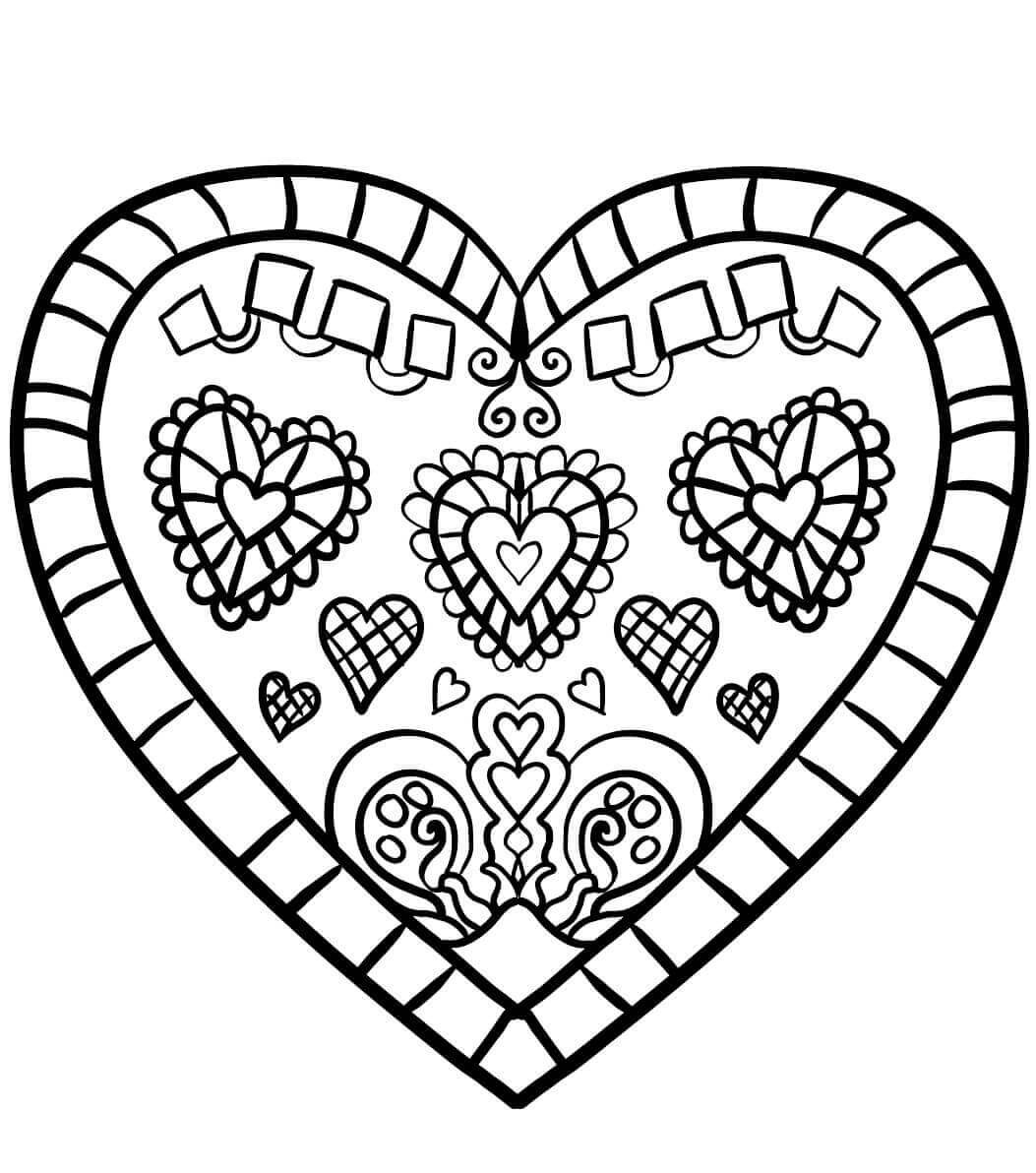 Coloring Book Pages Heart  35 Free Printable Heart Coloring Pages