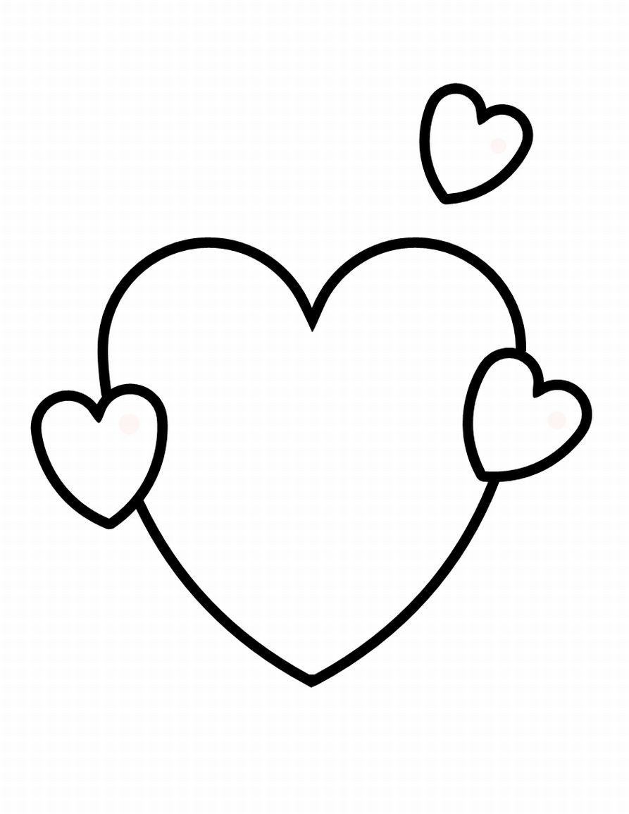 Coloring Book Pages Heart  Free Printable Shapes Coloring Pages For Kids
