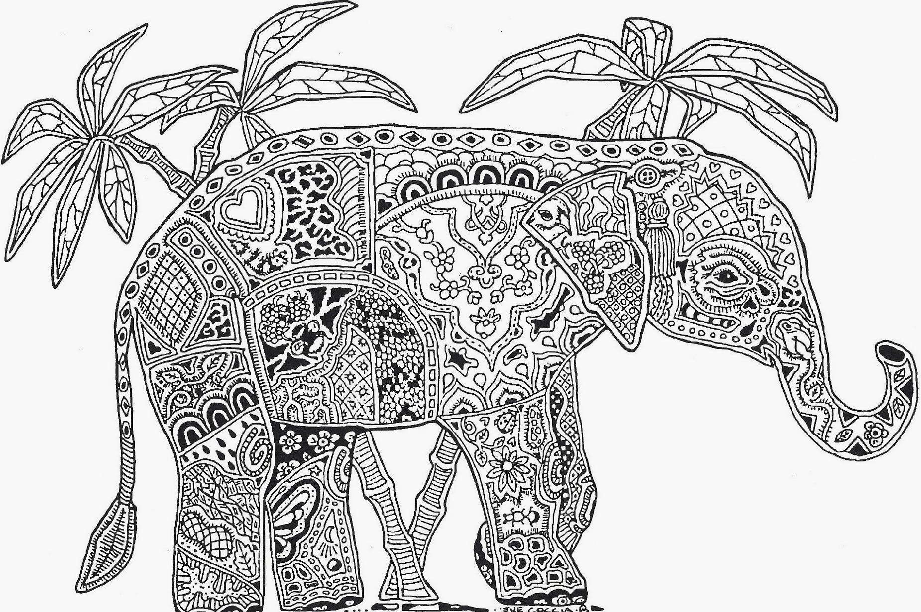 Best ideas about Coloring Book Pages Of Elephants . Save or Pin elephant mandala coloring pages Now.