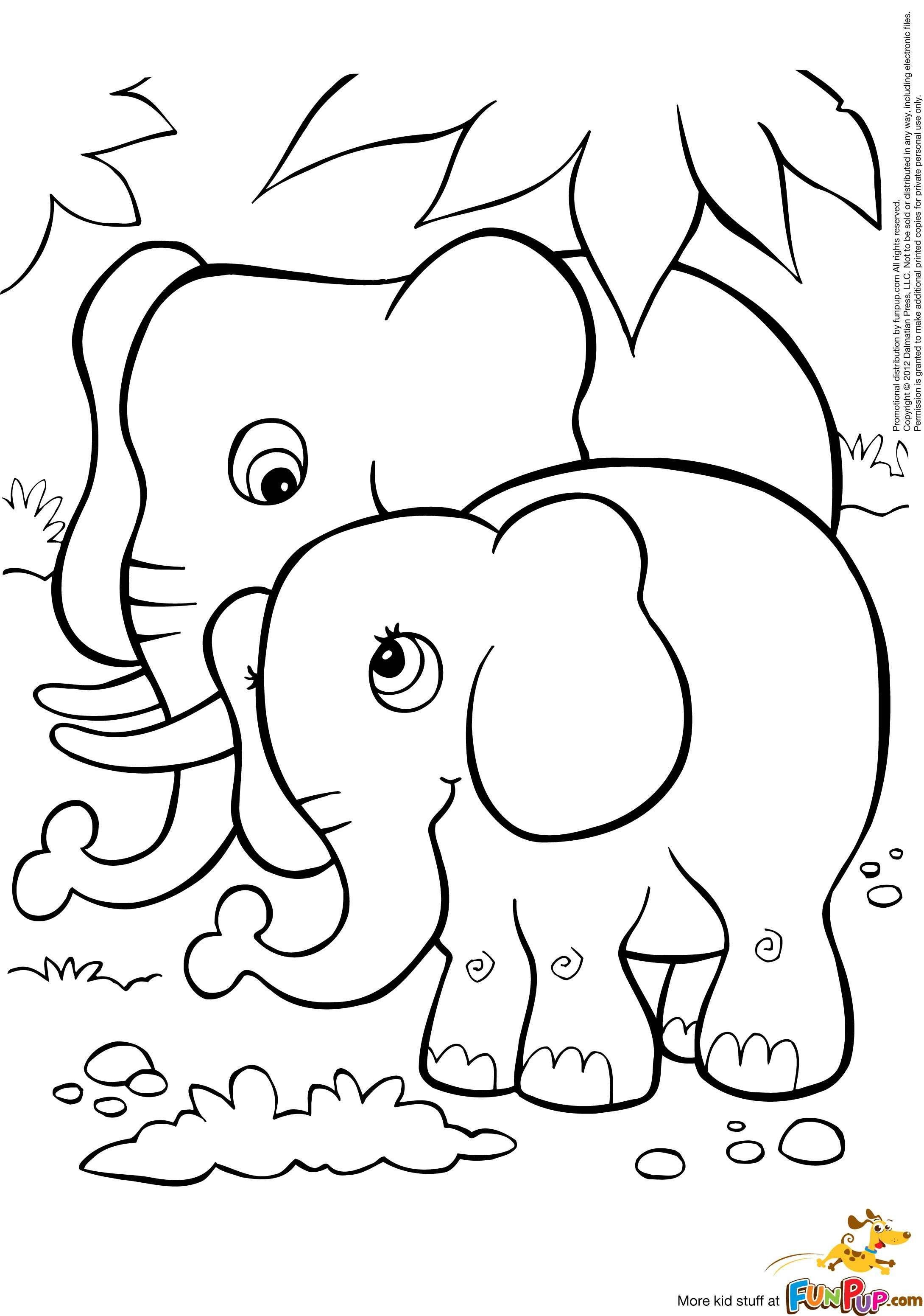 Best ideas about Coloring Book Pages Of Elephants . Save or Pin free baby elephant coloring pages Now.