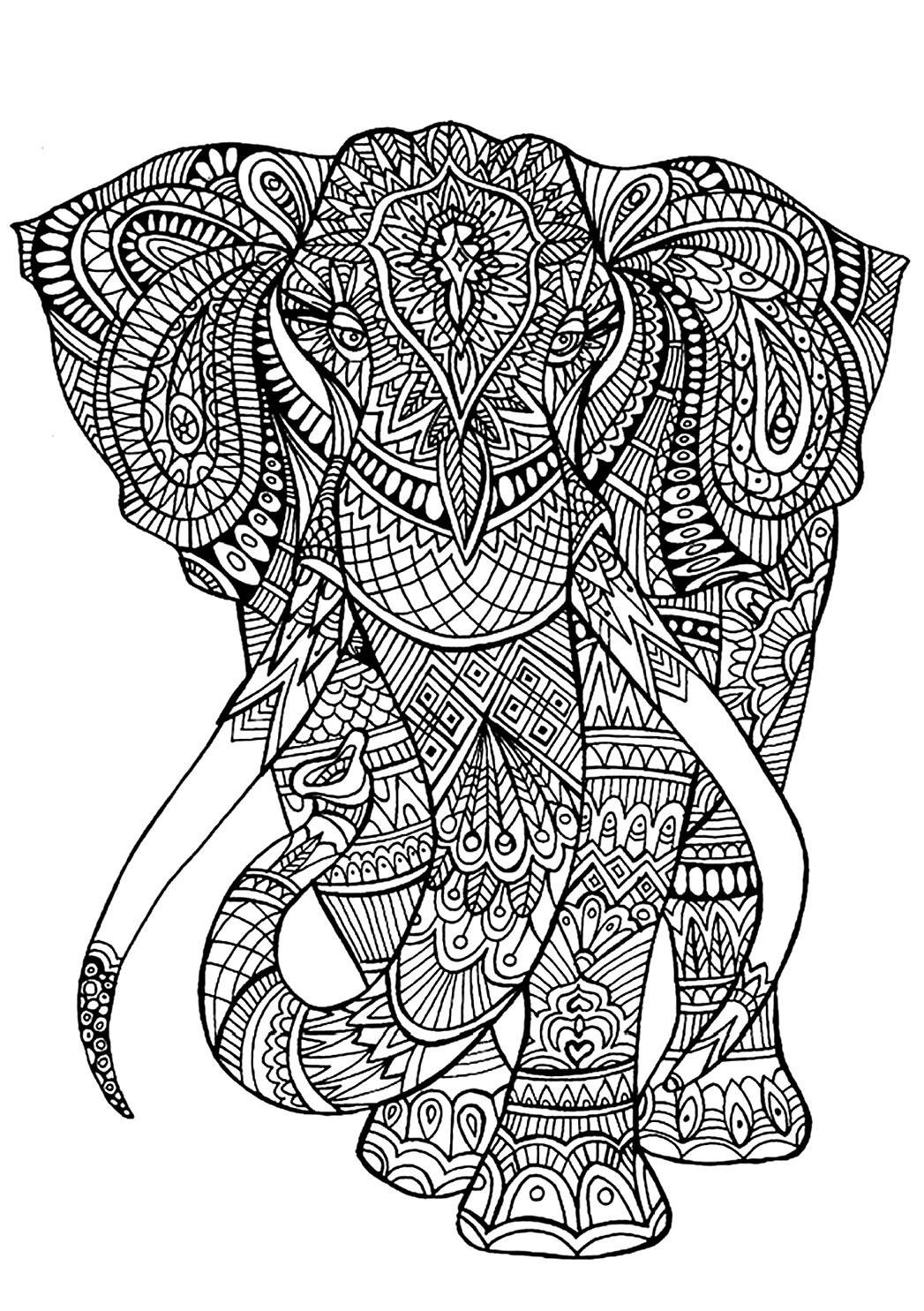 Best ideas about Coloring Book Pages Of Elephants . Save or Pin Color My World Now.