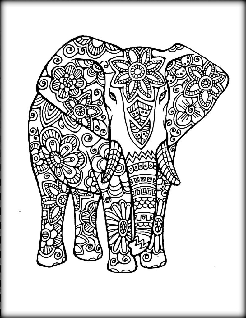 Best ideas about Coloring Book Pages Of Elephants . Save or Pin Printable Mandala Coloring Pages Color Zini Now.