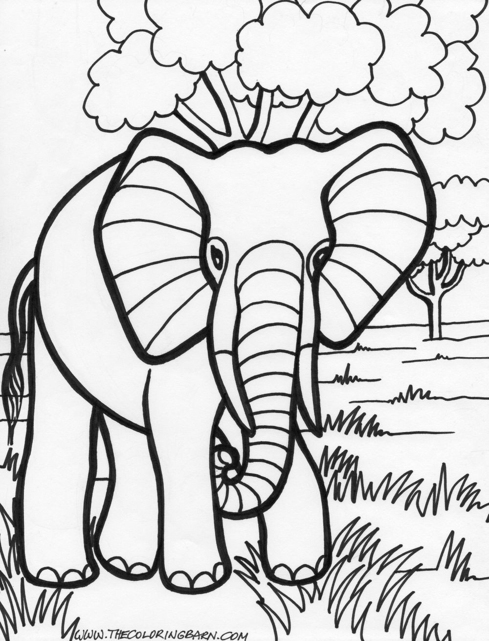 Best ideas about Coloring Book Pages Of Elephants . Save or Pin Black beauty 18 Elephant coloring pages Now.