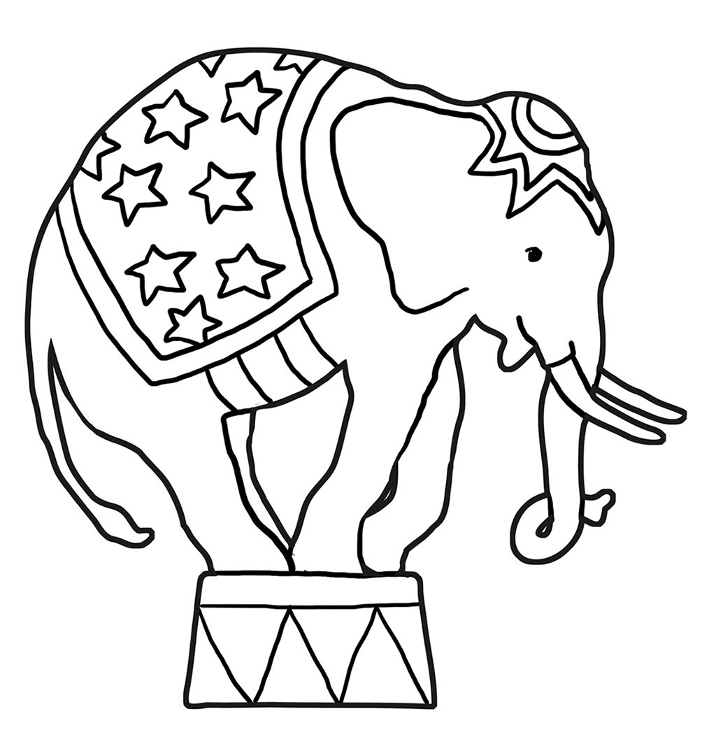Best ideas about Coloring Book Pages Of Elephants . Save or Pin Funny Elephant Coloring Pages Now.